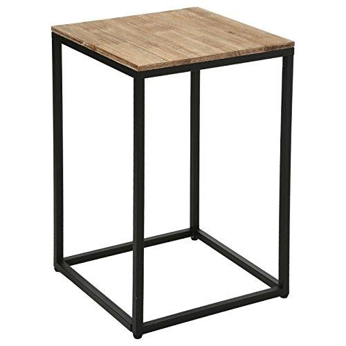 Table d'appoint, Table de Chevet ou Bout de canapé en Bois et métal - Style Industriel, Vintage et Atelier