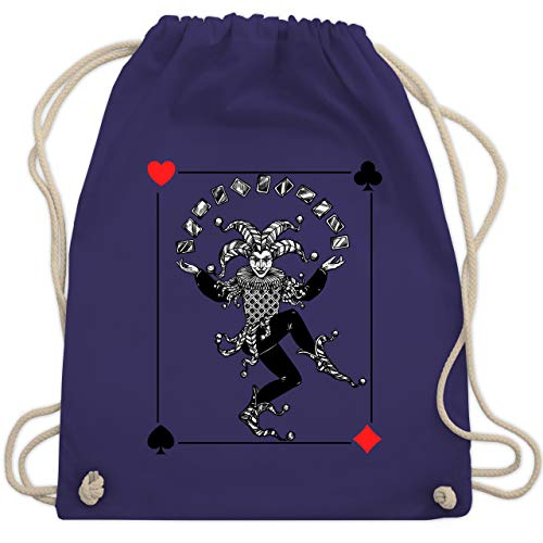 - Joker Karte - Unisize - Lila - WM110 - Turnbeutel & Gym Bag ()