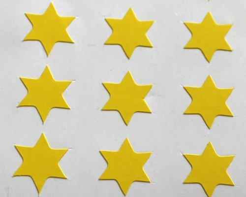 150 Etiquetas, 10mm Forma De Estrella, Amarillo, Pegatinas Autoadhesivas, Minilabel Formas