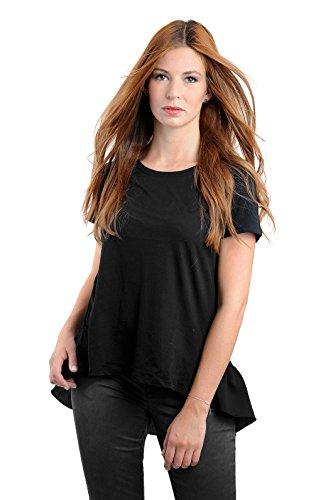 rich&royal Damen Shirt 53q471, schwarz (black), Bluse, Tunika (M)