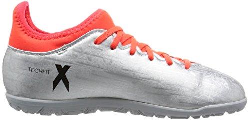 adidas X 16.3 Tf J, Scarpe da Calcio Bambino Argento (silver met./core black/solar red)
