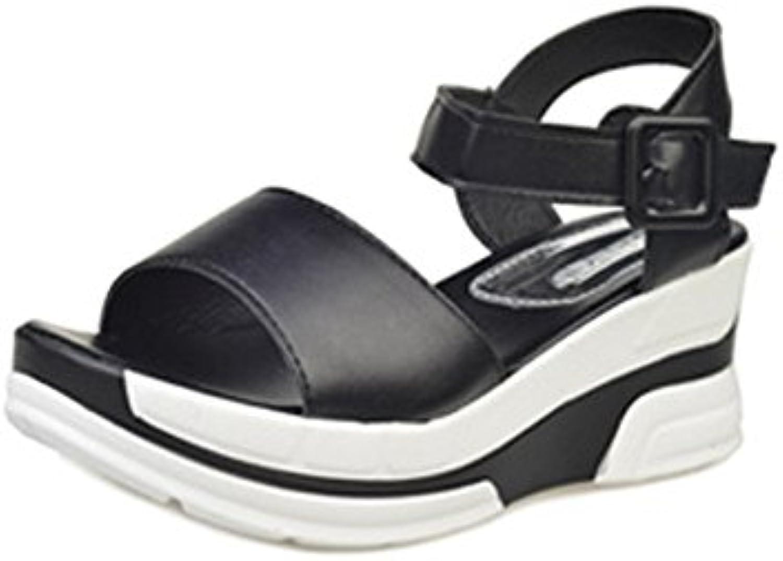 Tingtingbin Sandalias femeninas Sandalias Verano Mujer Zapatos Bajos Zapatos De Verano Damas Toe Flats,Negro,5.5 -