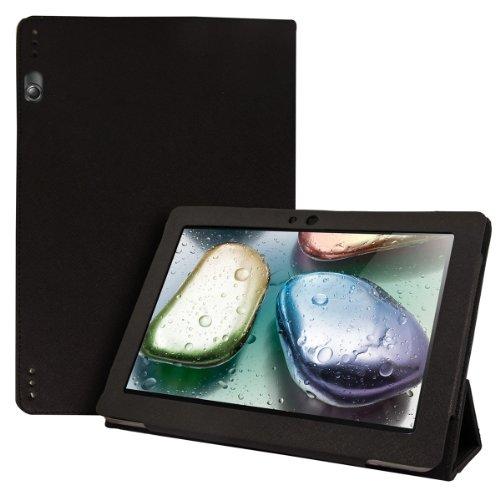 kwmobile Funda compatible con Lenovo IdeaTab S6000 - Case de cuero sintético para tablet con cierre magnético y soporte