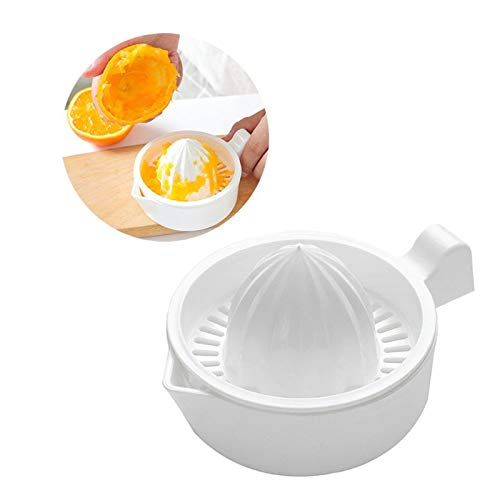 Manual Juicers - Mini Plastic Double Layer Household Manual Citrus Juicer Orange Lemon Fruit Squeezer Cup With Handle - Clean Pomegranate Citrus Easy Extractor Amazon Juicers Funnel Celery (Green Citrus Juicer)