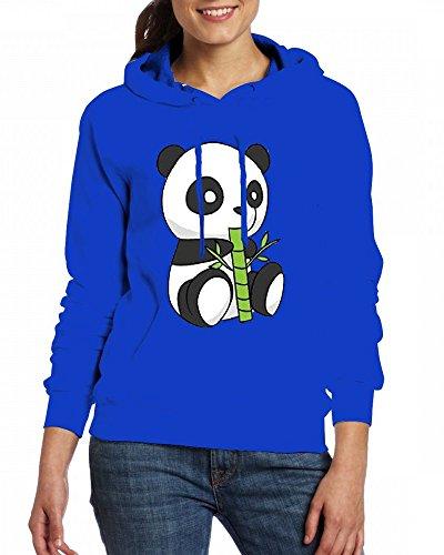 Custom Womens Hooded - Design Cute Panda Drawing Hoodies green
