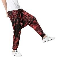 Pantalones de Chándal Casuales Jogging para Hombre Sueltos Casuales con cordón Moda Impresos Pantalones Deportivos Hip Hop Casuales Personalizados MMUJERY