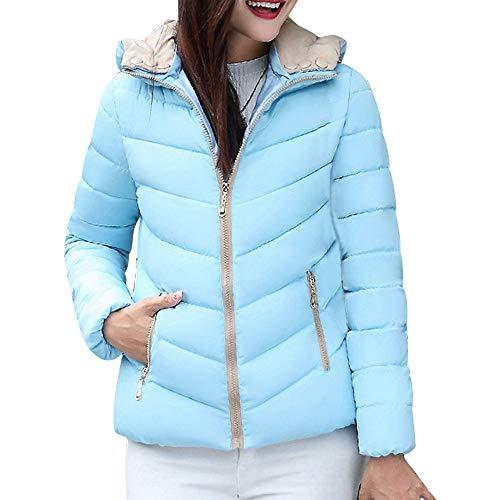 MIRRAY Damen Solide Winter Warme Mantel Reißverschluss Slim Fit Jacke Mantel