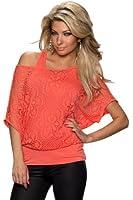 5775 Fashion4Young Damen Fledermaus-Shirt mit Top 2 in 1 verfügbar in 3 Farben Farben