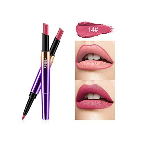 Kltipeng Doppel-Ende Lasting Lipliner wasserdicht Lip Liner Stick Bleistift 16 Farbe(N)