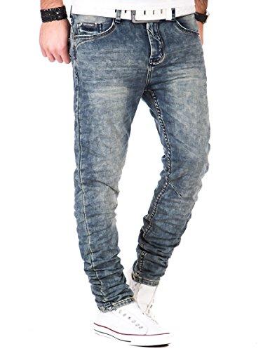 Jogg Jeans Herren Hose Sweatpants Joggjeans Urban Surface Vintage dark blue Dark Blue