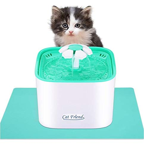 Pet Friend Cat Fountain 2 Litre Clean Purified Fresh Water Drinking Bowl For Cats And Small Dogs