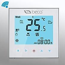 Termostato WIFI Central BECA Cuatro de tubería de calefacción / refrigeración Control inalámbrico Programable HVAC Termostato de la habitación