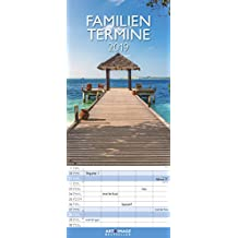 Traumziele 2019 - Familienplaner, Fotokalender, Urlaub, Natur, Landschaftskalender - 19,5 x 45 cm