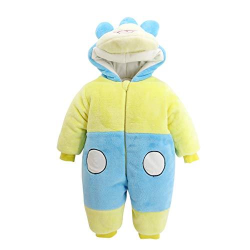 Unisex Baby Winter-Overall mit Kapuze, Bär, weiches Fleece, Einteiler, Schneeanzug Outfits Urlaubszubehör Weihnachten Kostüm, Mickey Maus, 80cm(9-12M) (Mickey Maus Pyjama Kostüm)
