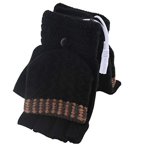 Mengqiy Guantes calefacción USB Hombres Mujeres Calentadores