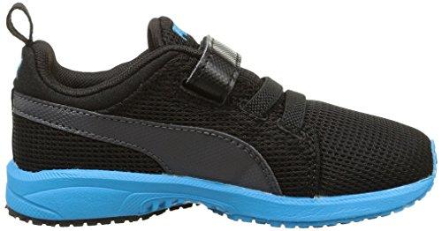 Puma Carson Runner V Kids, Chaussures de course mixte enfant Noir (Black/Atomic Blue)