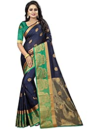 SATYAM WEAVES WOMEN'S ETHNIC WEAR BANARASI COTTON SILK SAREE. (PANKHUDI)