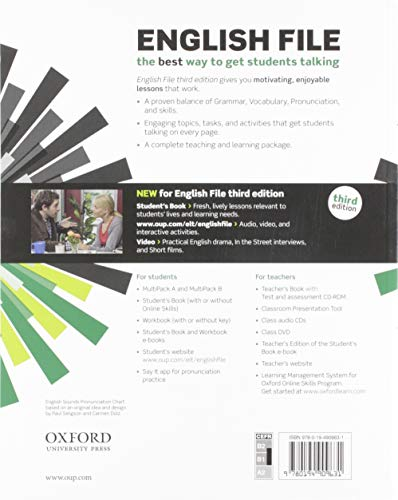 English File: Intermediate: Student's Book/Workbook MultiPack B with Oxford Online Skills