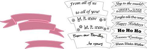 Marianne Design COL1325 Collectables Banner und Text Weihnachten - Stempel