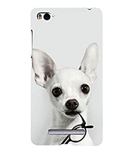 Dog with Glasses 3D Hard Polycarbonate Designer Back Case Cover for Xiaomi Mi 4i :: Xiaomi Redmi Mi 4i