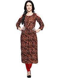 Jashvi Creation Women's Stitched Anarkali Printed Kurti