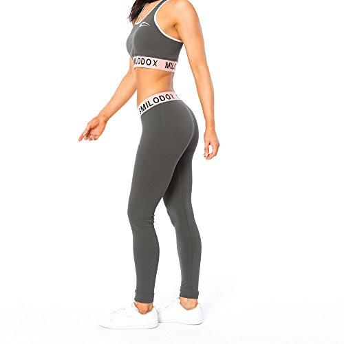 Smilodox Damen Seamless Leggings Precious, Farbe:Anthrazit, Größe:XS - 2