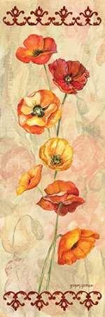Scarlet Poppies II Von Gorham, Gregory Kunstdruck auf Leinwand - Klein (15 x 46 cms )