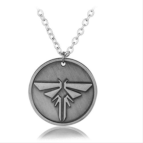 Hot Game The Legend Of Zelda Necklace Jewelry The Last Of Us Hylian Round Dog Tag Metal Pendant Necklace Gift For Men