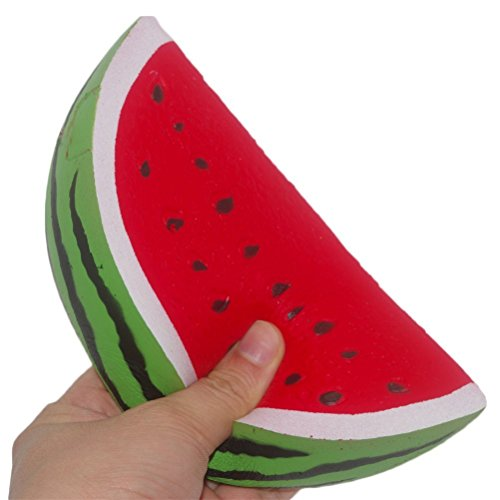 ATEENY Squishy Wassermelone Scheiben, Jumbo Fruit Squishies Langsam Steigende Duftende Dekompression Drücken Spielzeug für Erwachsene und Kinder (Handy 5 Jahre Kinder Für Alt)
