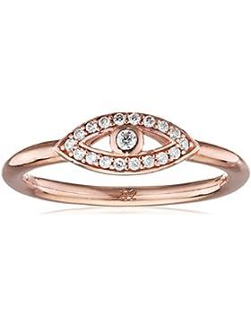 THOMAS SABO Damen Ring TR2075-416-14 Ring 925er Sterlingsilber; 750er Roségold Vergoldung Zirkonia Pavé Weiß Roségoldfarben...