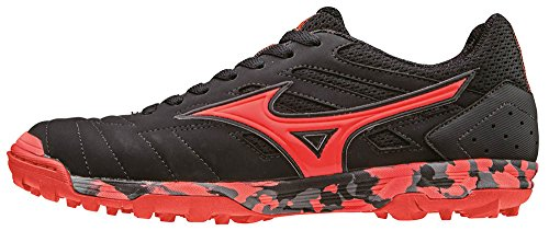 Mizuno Sala Classic As, Chaussures de Football Homme Noir - Nero (Black/Fiery Coral)
