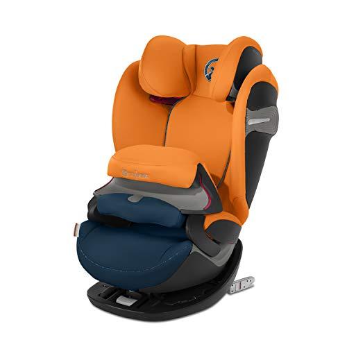 CYBEX Gold 2-in-1 Kinder-Autositz Pallas S-Fix, Für Autos mit und ohne ISOFIX, Gruppe 1/2/3 (9-36 kg), Ab ca. 9 Monate bis ca. 12 Jahre, Tropical Blue