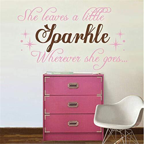 wandaufkleber 3d Wandtattoo Wohnzimmer Inspiration, die sie ein wenig Schein-Zitat-Mädchen-Raum-Dekor für Schlafzimmer lässt (Disney Mädchen-raum-dekor)