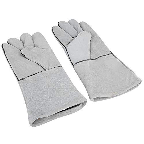 Lederhandschuhe, Leder Thorn Proof Gartenhandschuhe mit langen Handschuhen für Blumen(Hellgrau) (Thorn Proof-garten-handschuhe)