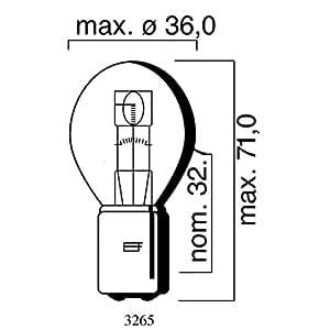 Ampoule MotoLibre 6V 25/25W BA20d, Bilux