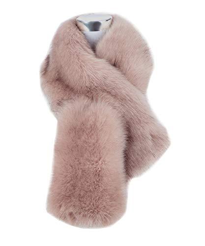 Saferin Falso invierno abrigo bufanda piel