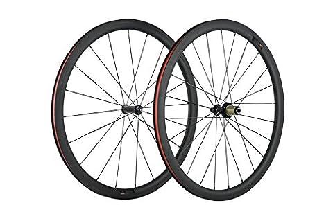 WINDBREAK BIKE 25mm Carbon Fiber Road Bicycle Wheelset 38mm 700c Clincher Carbon Wheel