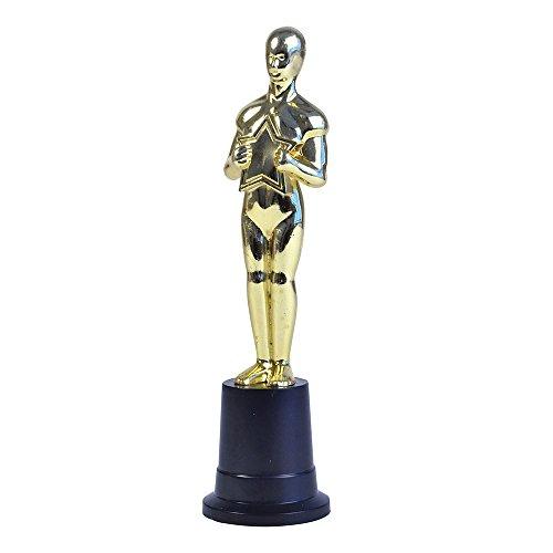 Bristol Novelty gj426Film Star Trophy Party Zubehör Set, Unisex, Gold/Schwarz, Einheitsgröße