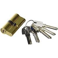 Tesa Assa Abloy, T6553535L, Cilindro de seguridad T60, Leva larga, 35x35mm, Latonado