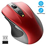 WisFox Ratón inalámbrico, 2.4G Óptico Ratón...