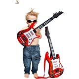 Kids Guitar Rockband For Your Upcoming Superstar By Cora,Battery Operated Music And Lights Rock Band Guitar For Kids (Multicolor) Your Kids Will Have Fun.