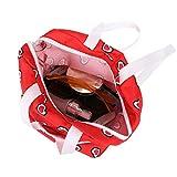ADESHOP Children Toys, Childrens Lovely Multifunction Heart Print Shoulder Bag Toy Doll Backpack Bag(Red, M)