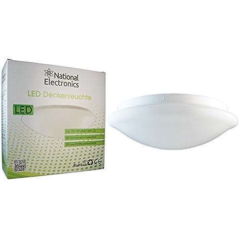 1x National Electronics® lámpara de techo | E27 6W 600 Lumen LED SMD | Lámpara de 230V AC 160 ° de la lámpara blanca cálida