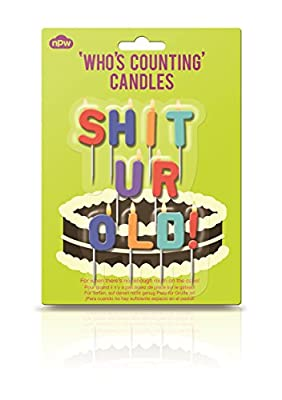 NPW Birthday Cake Candle Decorations - S**t Ur Old Rude Candles Celebration Nation by NPW