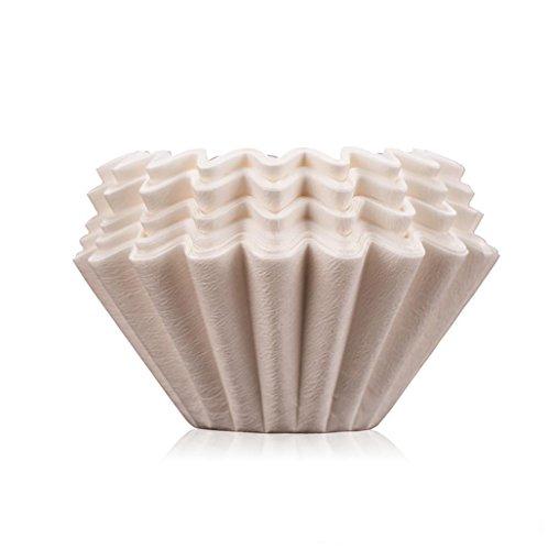 XL-4-Une fuite de café américain pot Cafetière filtre en papier filtre papier main bol 50 comprimés
