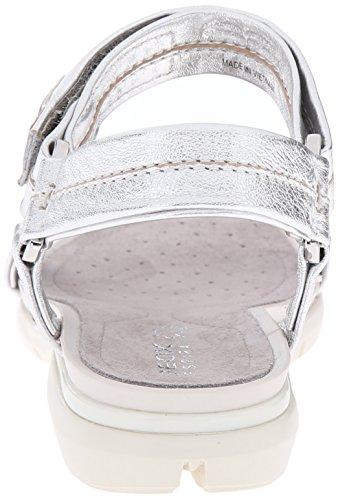 Geox  D Sandal Sukie C, Sandales Bout ouvert femme Multicolore - mehrfarbig (Multicolor (Silver / Lt Grey))