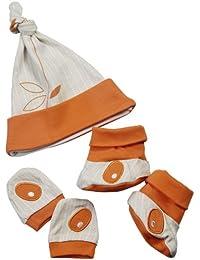 Pandi Panda Baby Girls' Outfit Orange Mandarin Orange 0-12 months