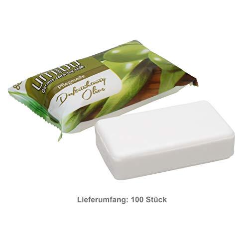 100 x UMIDO Seife 80 g Olive - Hand-Seife - Waschstück - Seifenstück für ihre Körperpflege - Festseife - 100 x 80 g (11.)