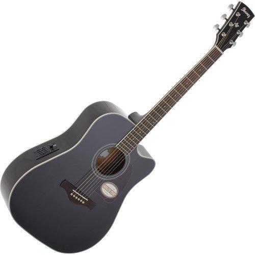 Ibanez - Guitarra sajona (madera), color negro