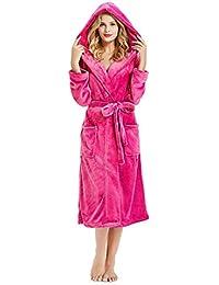 c09f0e4297 Plus Size Bathrobe for Women Egyptian Cotton Hooded Towelling Robe Ladies  Warm Short Wraps Around with